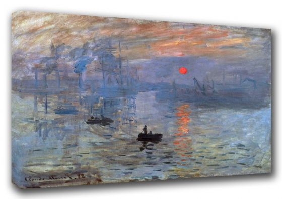 Monet, Claude: Impression, Sunrise (Soleil Levant). Fine Art Canvas. Sizes: A3/A2/A1 (003216)